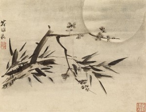 Gao_Qipei_-_Bamboo,_Plum_Blossoms_and_Moon_-_Walters_35298E